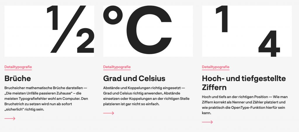 Typographic Links